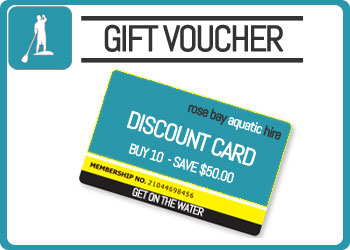 Rose Bay Aquatic Hire - Discount Card